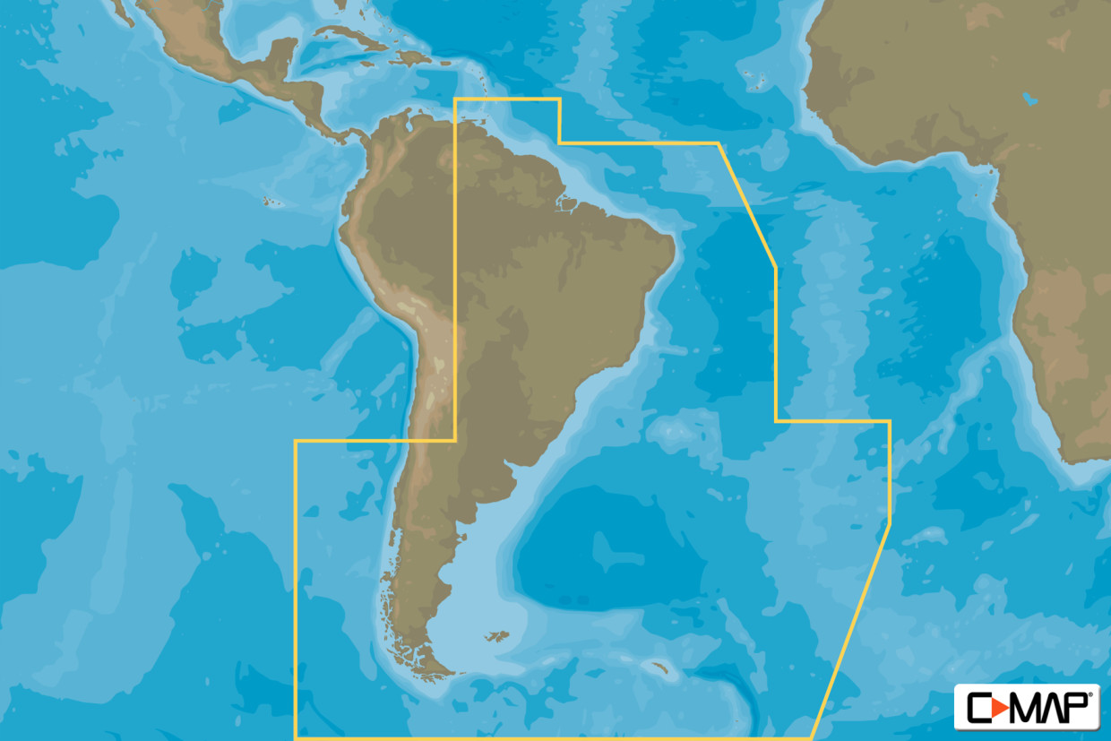 C-MAP MAX Wide SA-M501 Gulf of Paria to Cape Horn