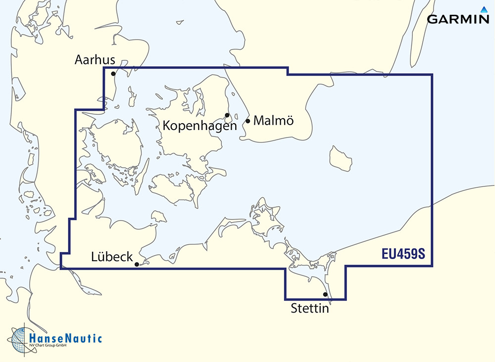 BlueChart Ostsee - Deutschland, südl. Dänemark bis Bornholm (Arhus-Kiel-Koszalin) g3 Vision VEU459S