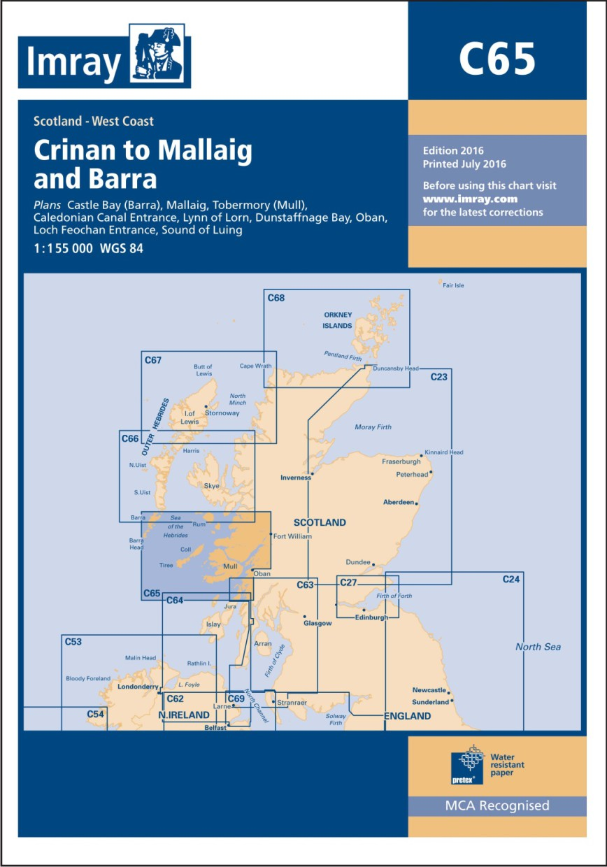 IMRAY Chart C65 Crinan to Mallaig and Barra