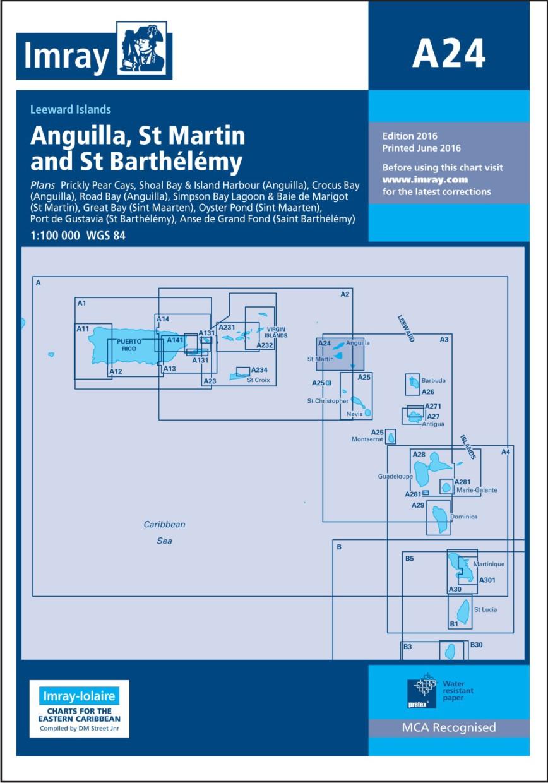 IMRAY CHART A24 Anguilla, St Martin and St Barthélémy
