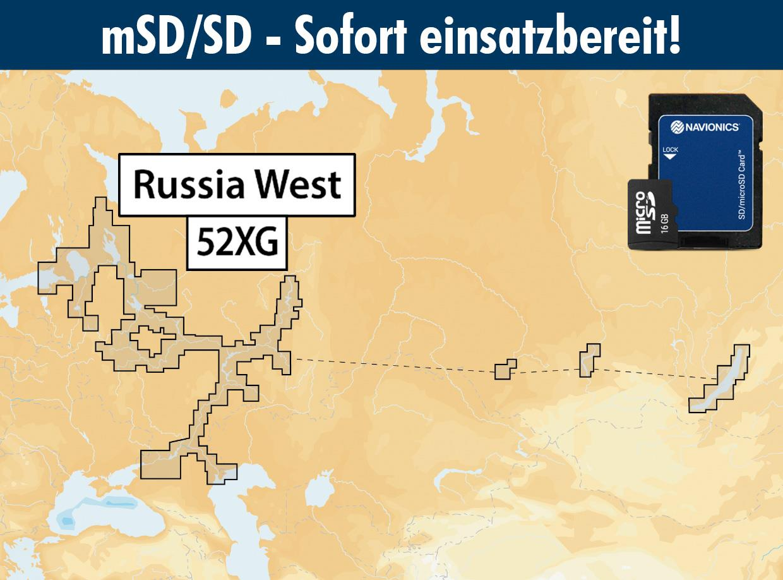 Navionics+ preloaded 52XG mSD Russia West