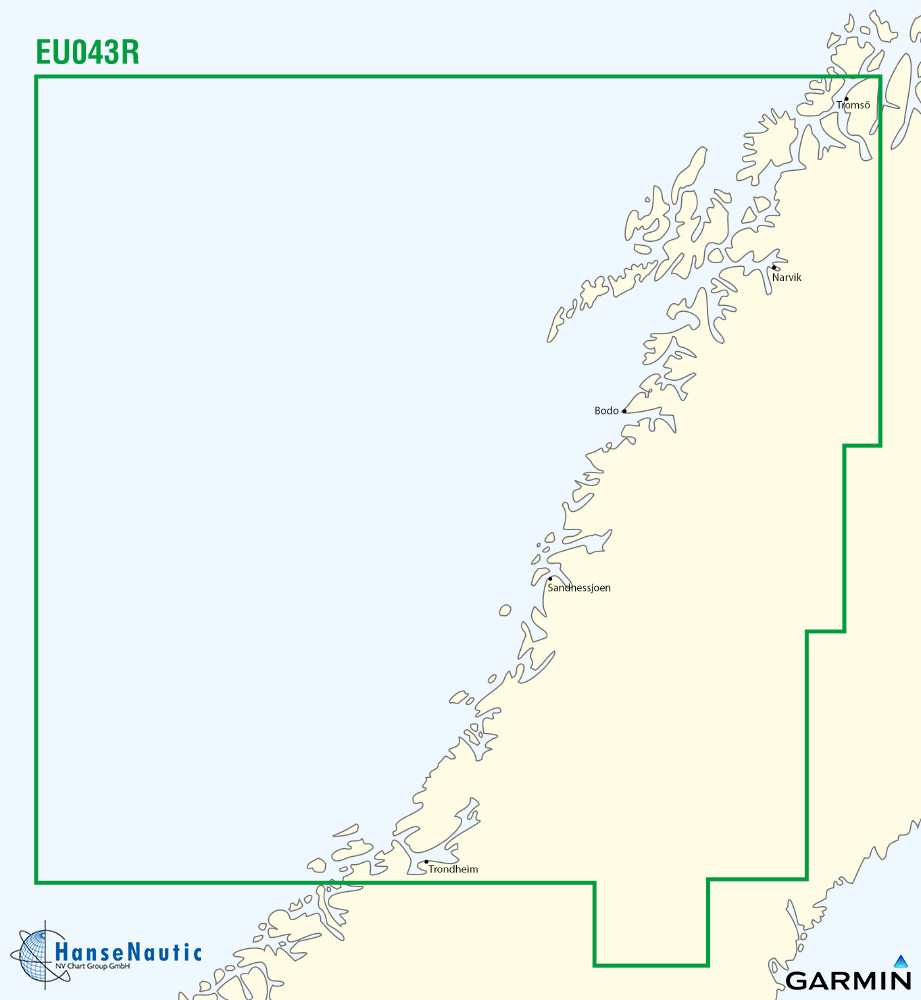 BlueChart g3 Chip Regular HXEU053R-Trondheim-Tromso