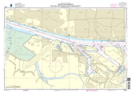 BSH 1661 Hafen von Hamburg, Die Elbe von Cranz bis Köhlbrandhöft