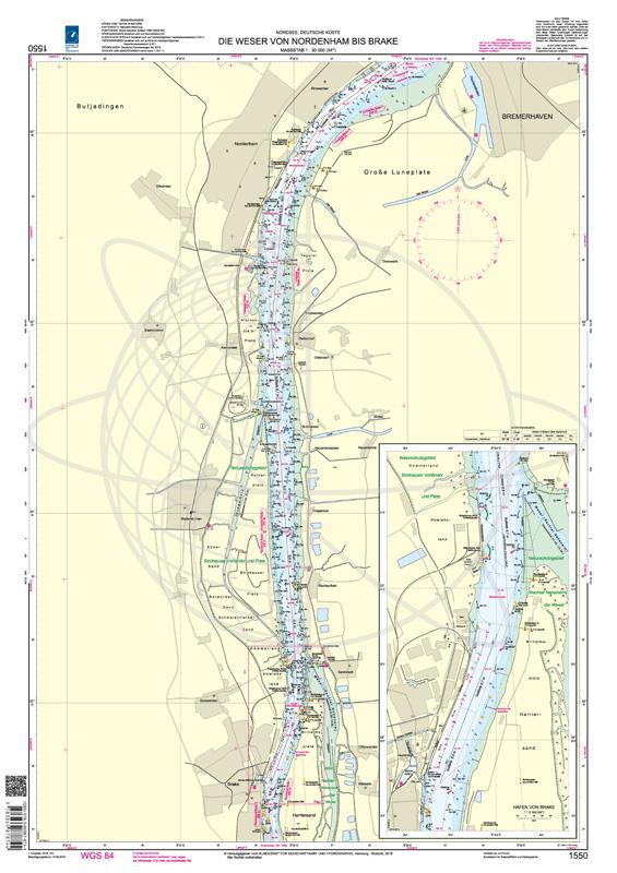 BSH 1550 Die Weser von Nordenham bis Brake