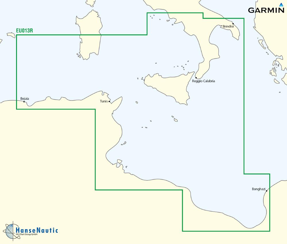 BlueChart Mittelmeer - Tunesien, Malta, Sizilien (Italy Southwest, Tunisia) g3 XEU013R