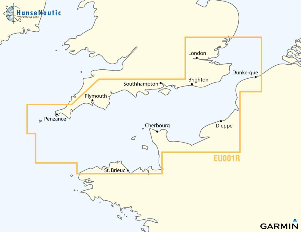 BlueChart Englischer Kanal, Nord-Frankreich u. Süd-England, g3 XEU001R