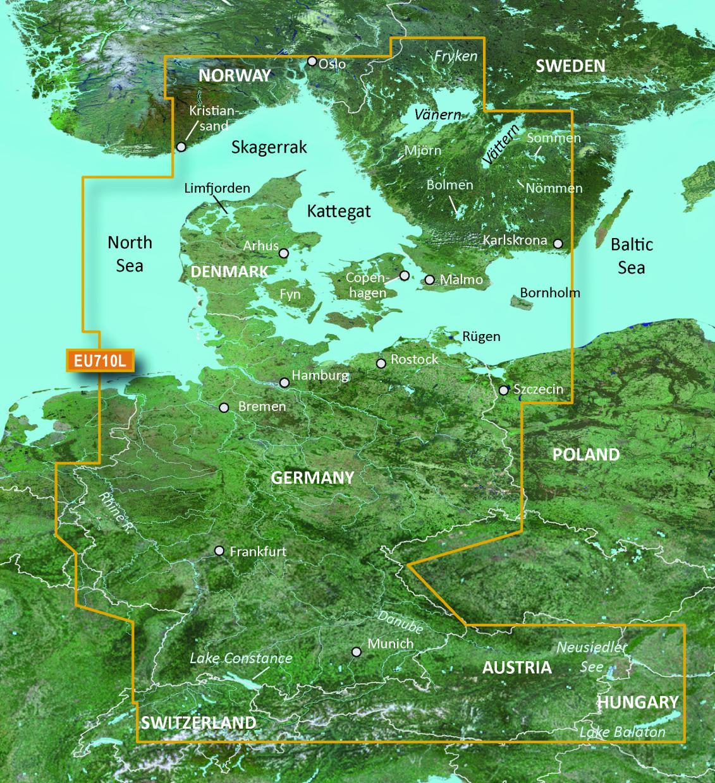 BlueChart g2 Vision Chip Large VEU710L-Denmark, Skagerrak & Kattegat