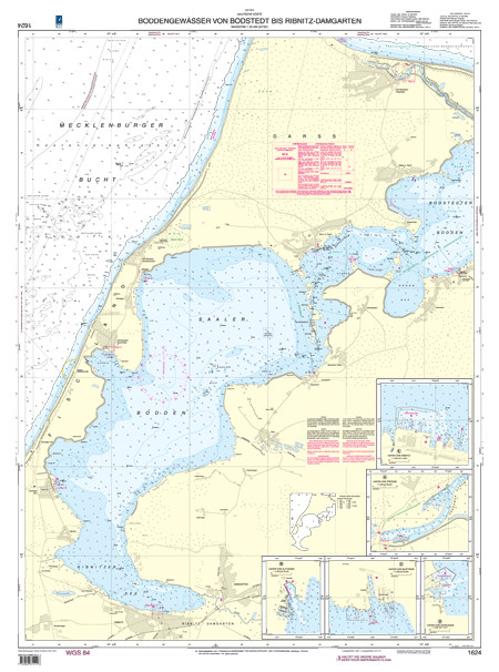 BSH 1624 Boddengewässer von Bodstedt bis Ribnitz-Damgarten