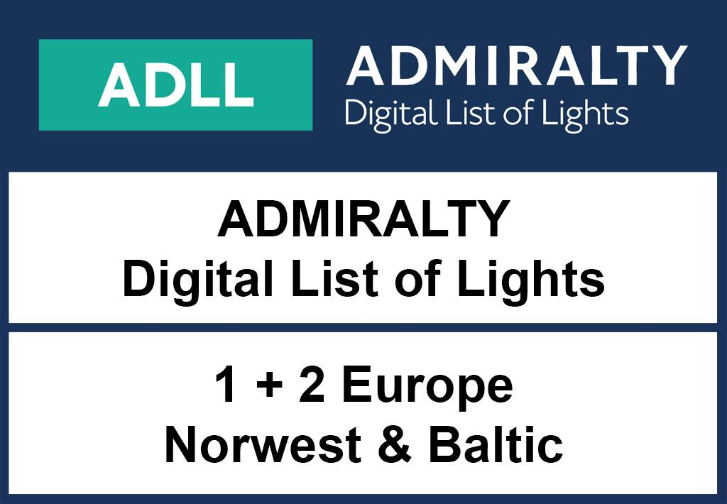 ADMIRALTY DigitalLightsList - Area 1+2 Europe & Baltic