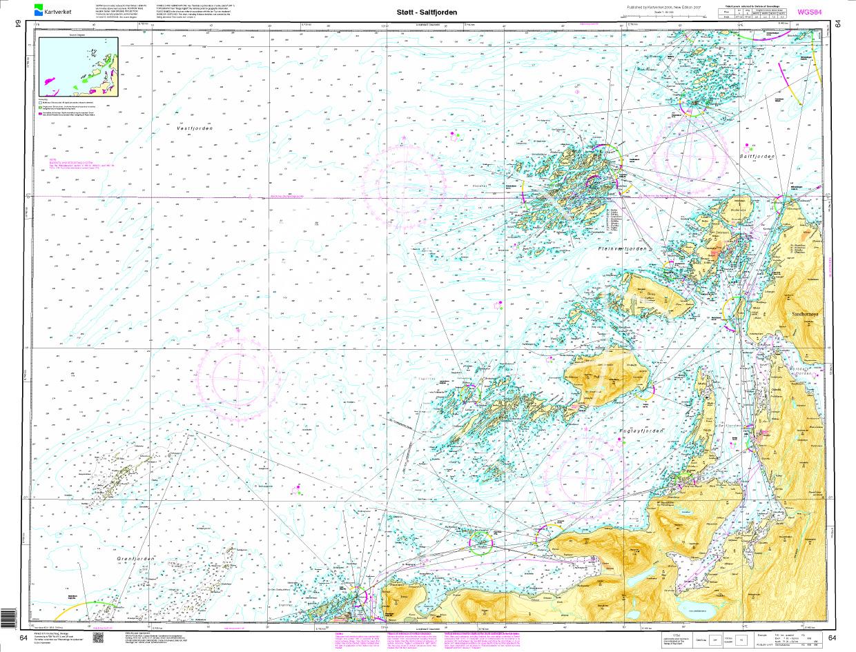 Norwegen N 64 Atlantik Støtt - Saltfjorden