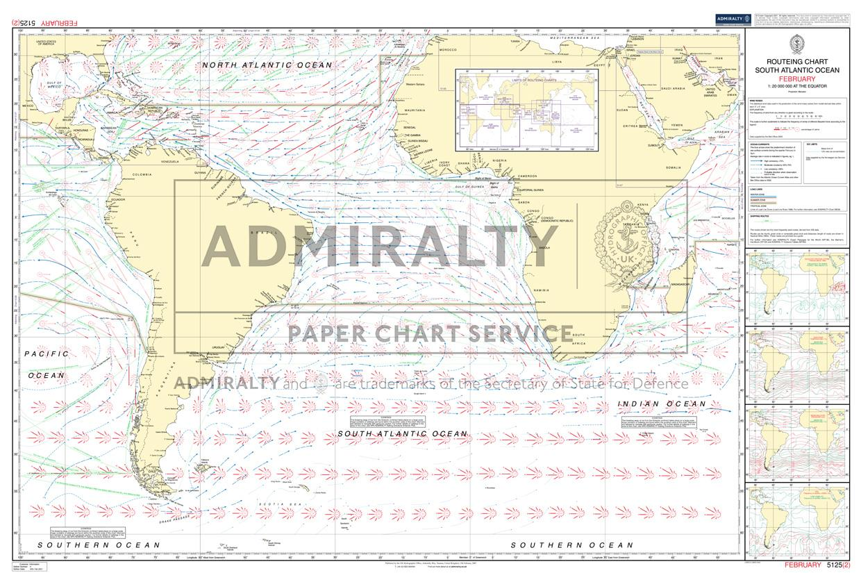 ADMIRALTY Routeing Charts South-Atlantic 5125