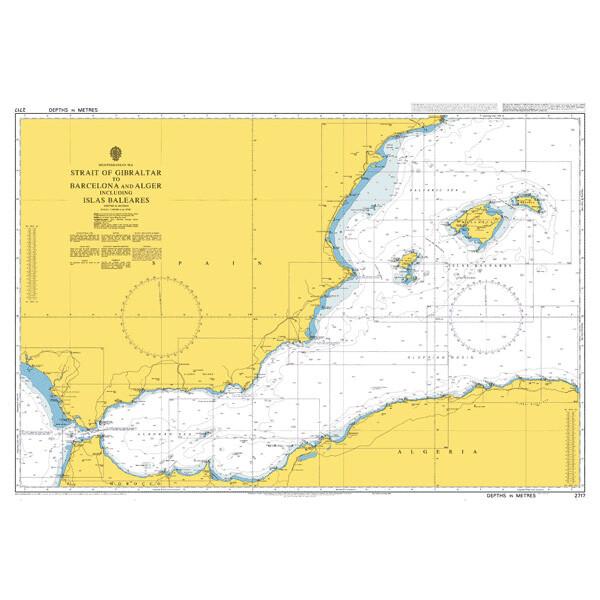 Strait of Gibraltar to Barcelona and Alger including Islas Baleares. UKHO2717