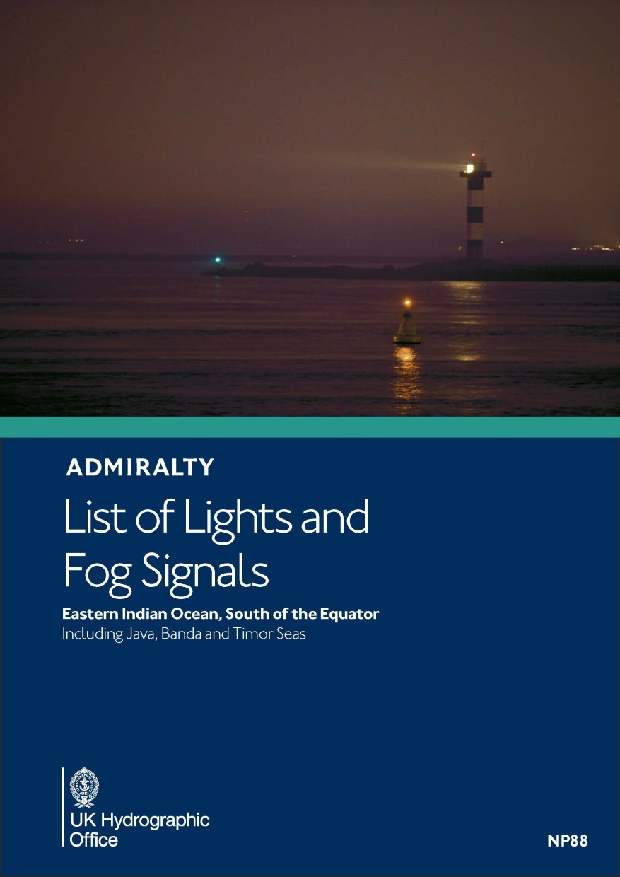 ADMIRALTY NP88 List of Lights and Fog Signals Vol Q - Eastern Indian Ocean
