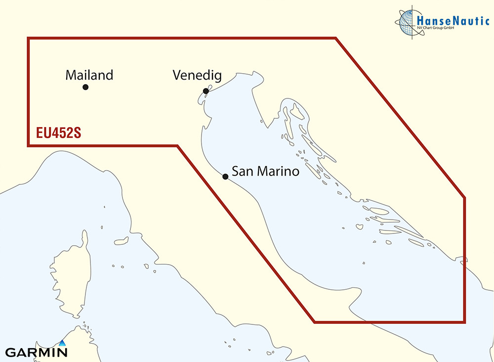BlueChart Adria Nord - Venedig, Slowenien, Kroatien - g3 Vision VEU452S