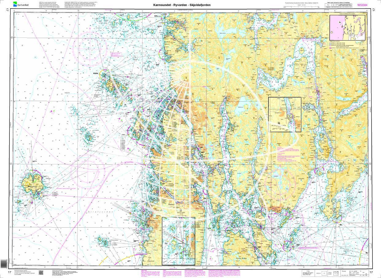 Norwegen N 17 Südwestküste Haugesund mit Karmsundet - Ryvarden - Skjoldafjorden