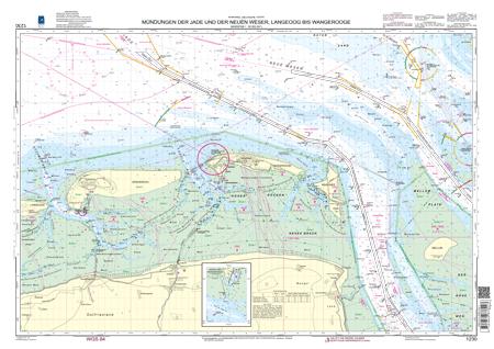 BSH 1230 Mündungen der Jade und der Neuen Weser, Langeoog bis Wangerooge