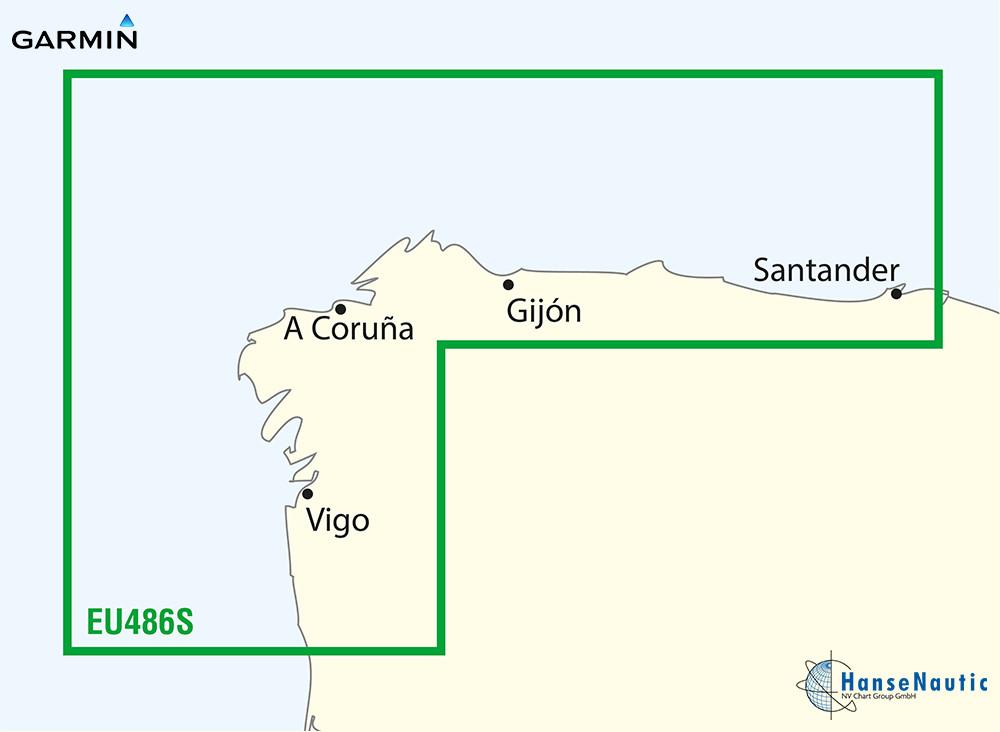BlueChart Atlantik, Galicien (Nordwest-Spanien) g3 Vision VEU486S
