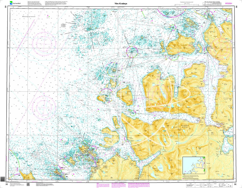Norwegen N 86 Atlantik Ytre Kvaløya