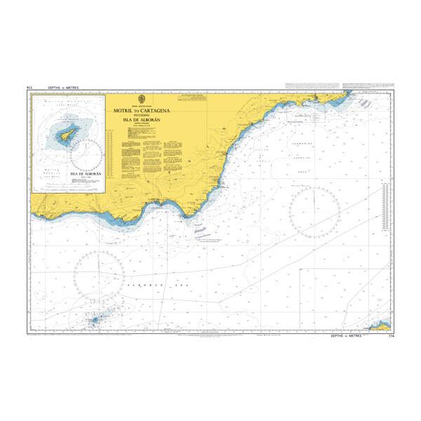 Motril to Cartagena including Isla de Alboran. UKHO774