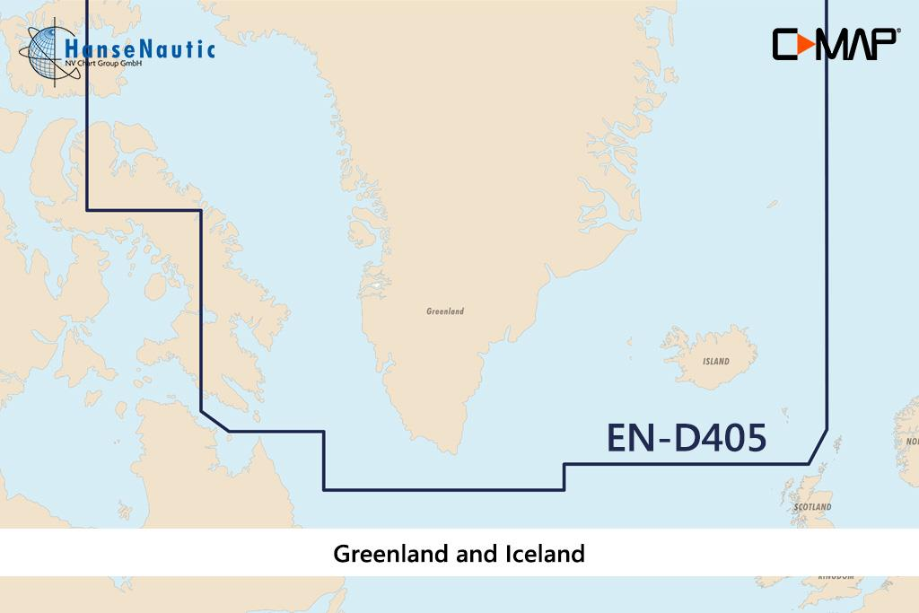 C-MAP 4D MAX+ Wide EN-D405 Greenland and Iceland