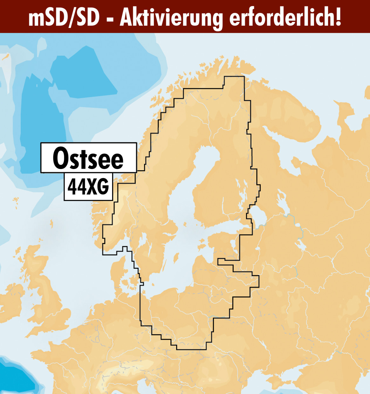 Navionics+ Update 44XG Ostsee (Baltic Sea) mSD