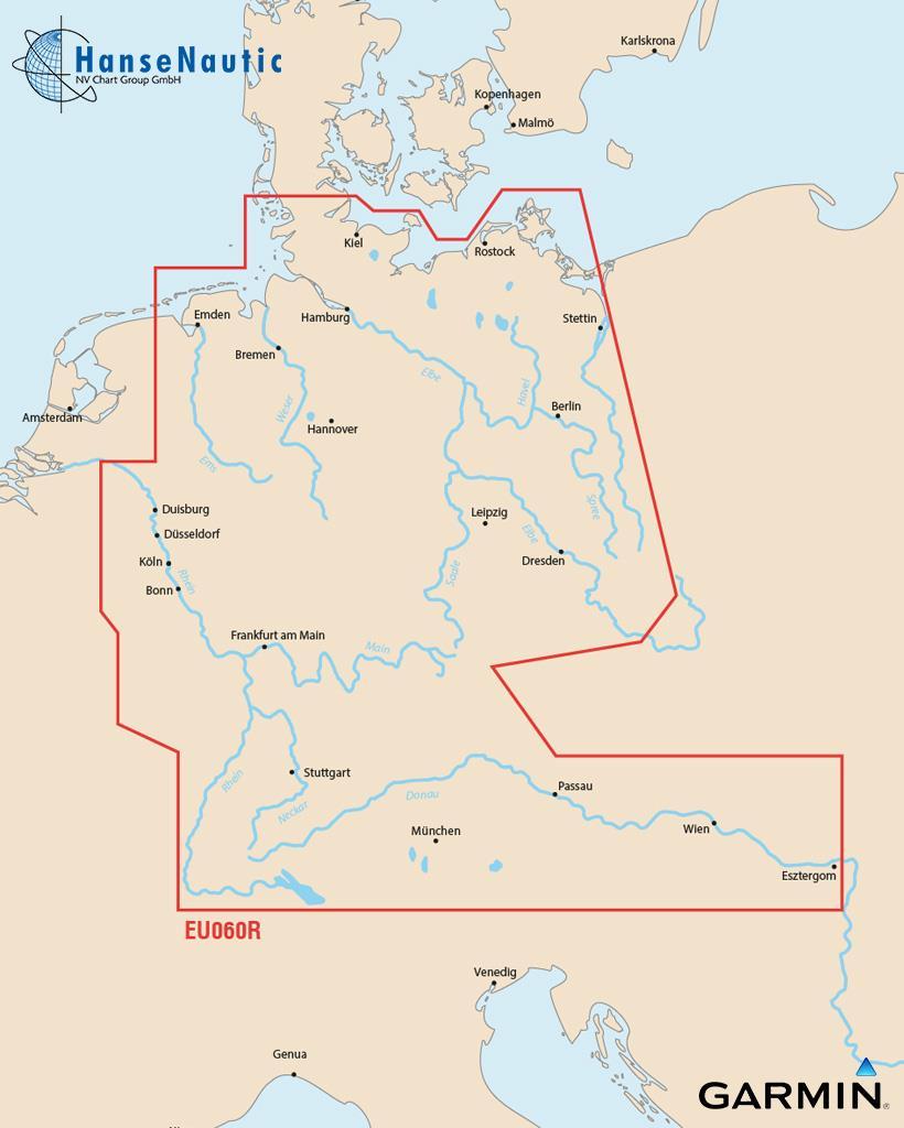 BlueChart g3 Chip Regular HXEU060R-Germany Inland Waters