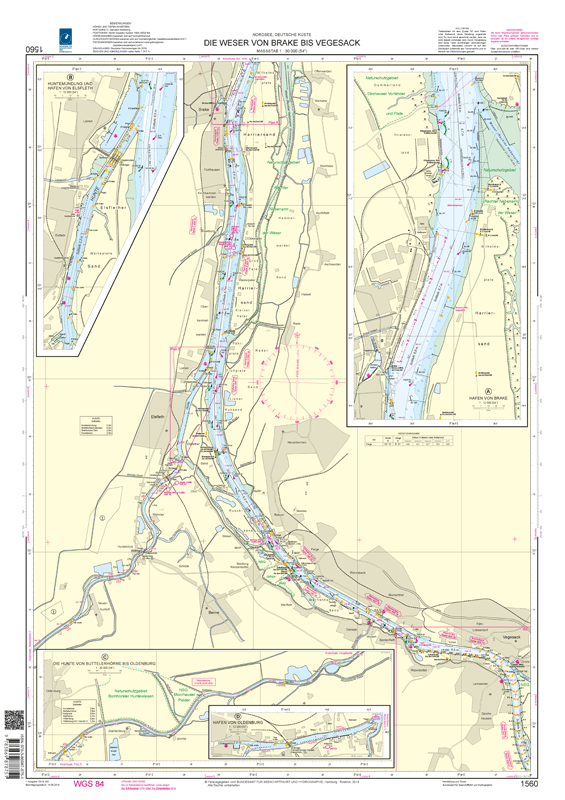 BSH 1560 Die Weser von Brake bis Vegesack