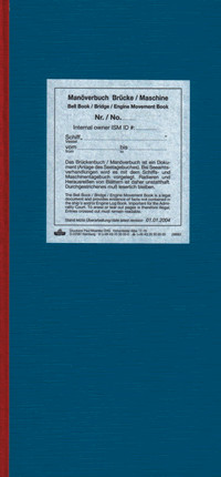 Manöverbuch Brücke/Masch. Bell Book