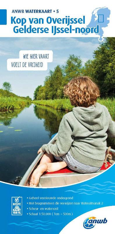 ANWB Waterkaart 5 - Kop van Overijssel / Gelderse  Ijssel-Noord