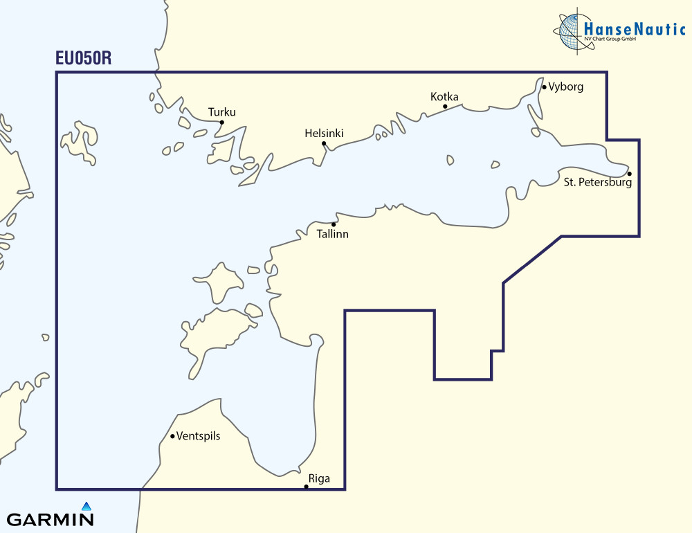BlueChart Ostsee, Finnischer Meerbusen u. Golf von Riga (Gulfs of Finland & Riga) g3 XEU050R