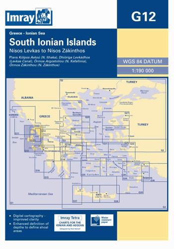 IMRAY CHART G12 South Ionian Islands Nisos Levkas to Nisos Zakinthos