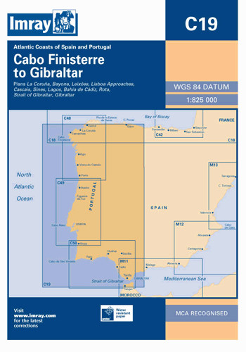 IMRAY CHART C19 A Coruña to Gibraltar
