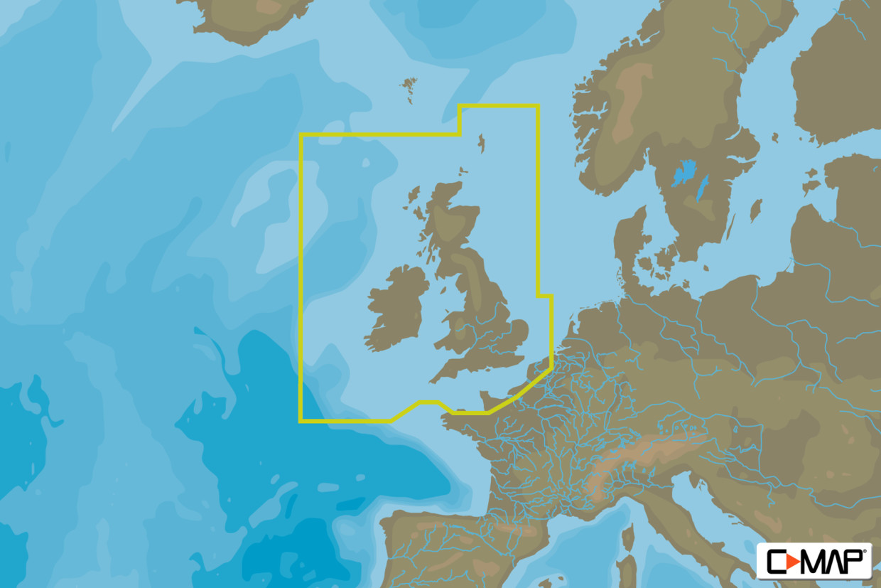 C-MAP MAX Wide EW-M226 UK, Ireland & The Channel