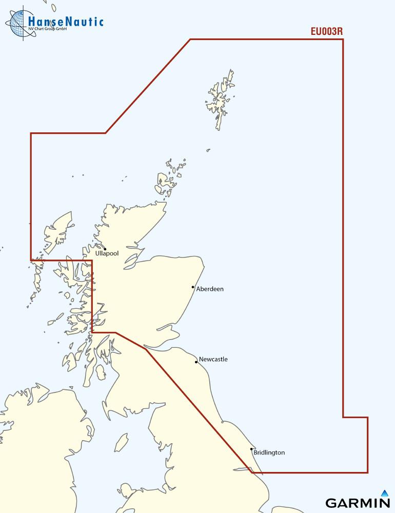 BlueChart Nordsee, Schottland - Humber (Great Britain, Northeast) g3 XEU003R
