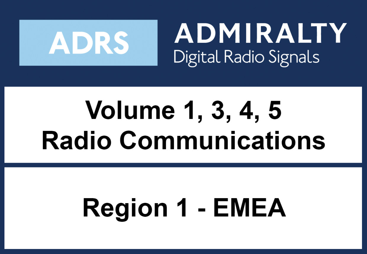 ADMIRALTY Digital List of Radio Signals 1,3,4,5 - Area 1 Europe, MiddleEast, Africa, India
