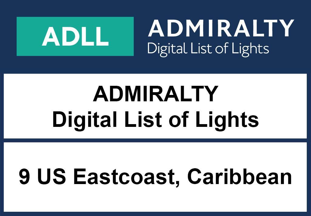 ADMIRALTY DigitalLightsList - Area 9 NorthAmerica (Eastcoast) and Caribbean