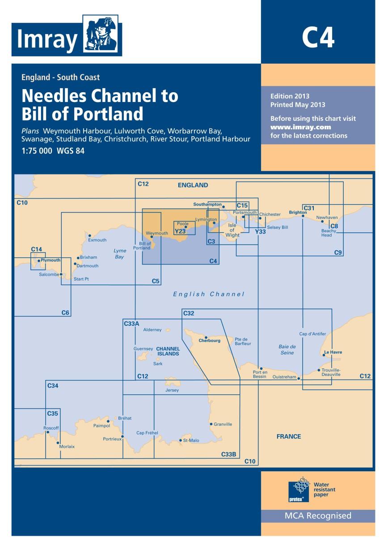 IMRAY CHART C4 Needles Channel to Bill of Portland
