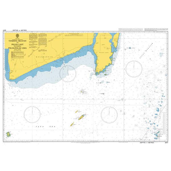 Tanjung Selatan to Pulau Laut including Pulau-Pulau Lima. UKHO3017