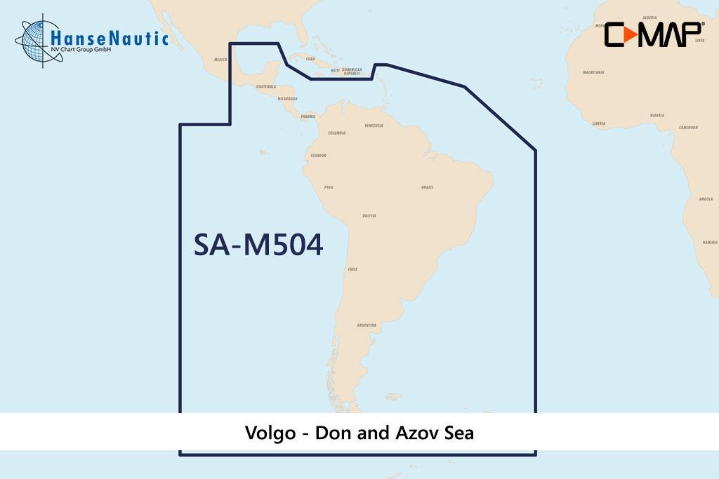 C-MAP MAX MegaWide SA-M504 South America & South Caribbean