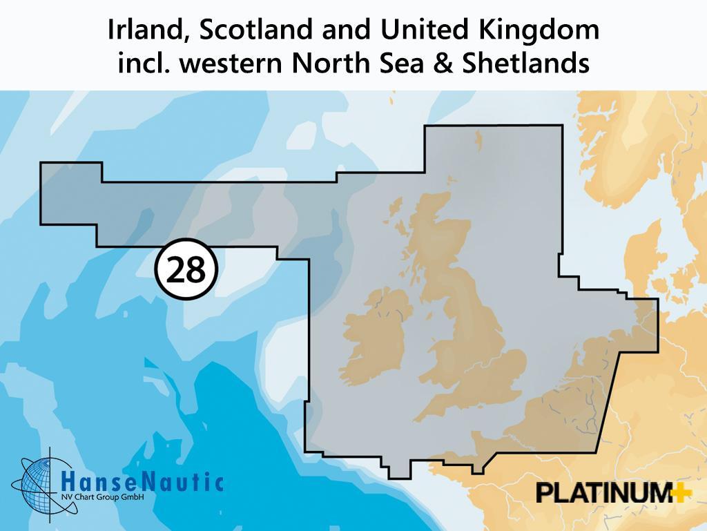 Navionics Platinum+ Irland, Schottland, Großbritannien (28P+)