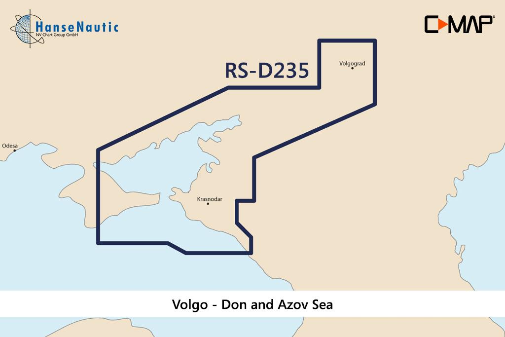 C-MAP 4D MAX+ Wide RS-D235 Volgo - Don and Azov Sea