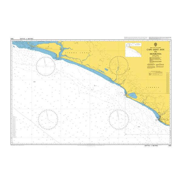 Cape Saint Ann to Monrovia. UKHO1363