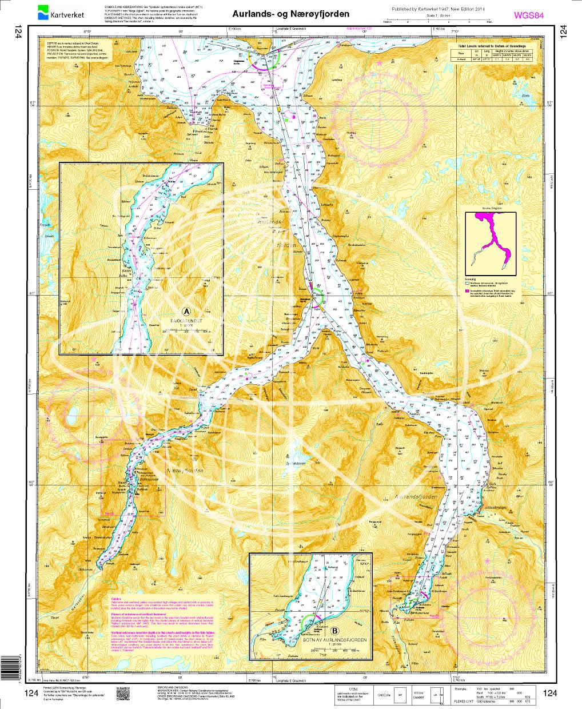 Norwegen N 124  Südwestküste Fjordwelt mit Aurlandsfjord und Nærøyfjord