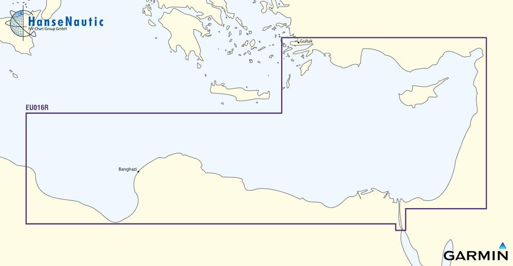 BlueChart g2 Vision Chip Regular VEU016R-Mediterranean Southeast