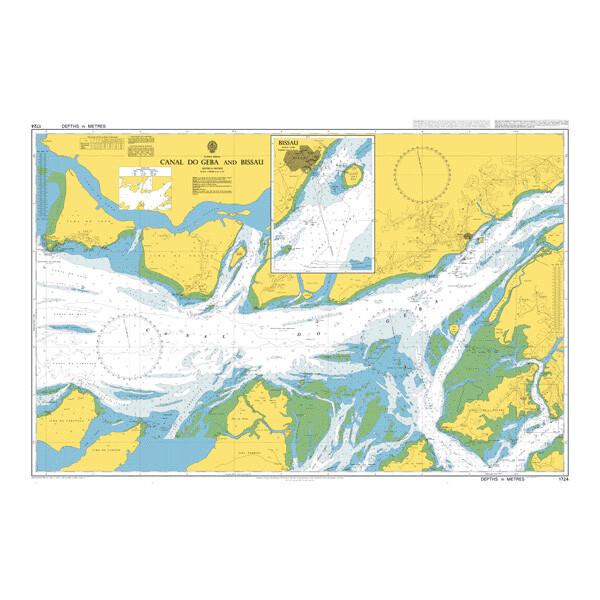 Canal do Geba and Bissau. UKHO1724
