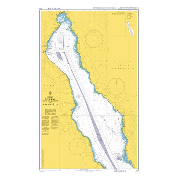 Suez Bay (Bahr al Qulzum) to Ra's Sharatib. UKHO2373