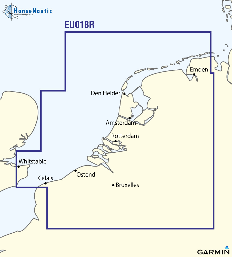 BlueChart g3 Vision Chip Regular VEU018R-Benelux Offshore and Inland Waters