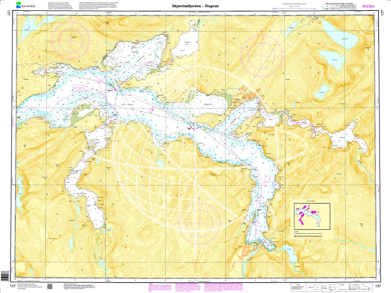 Norwegen N 137 Atlantik Skjerstadfjorden - Rognan