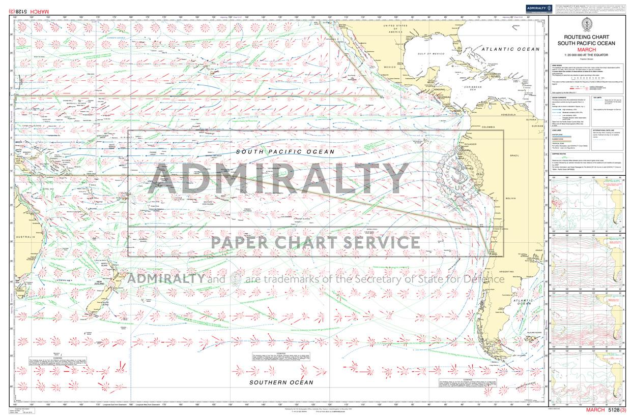 ADMIRALTY Routeing Charts South-Pacific 5128