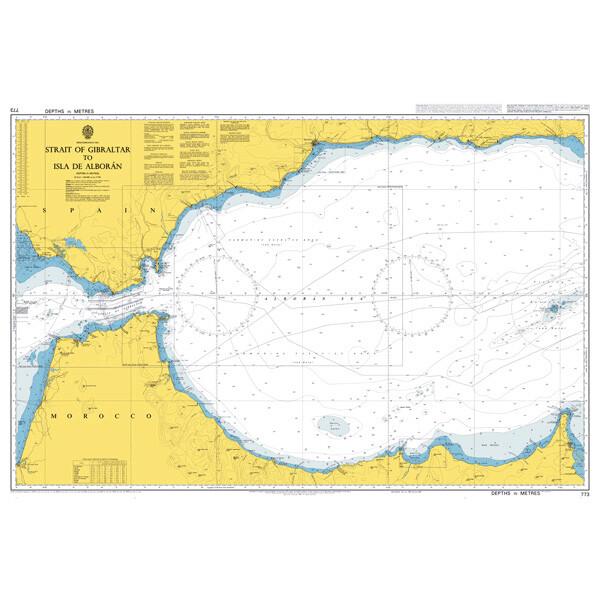 Strait of Gibraltar to Isla de Alboran. UKHO773